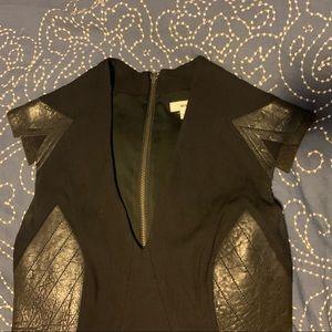 Helmut Lang, leather inserts mini dress, size 2
